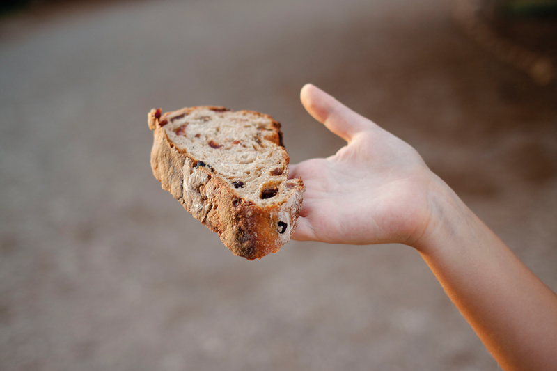 Rebanada de pan de La Madrugá