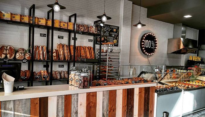 Interior de 100% panadería