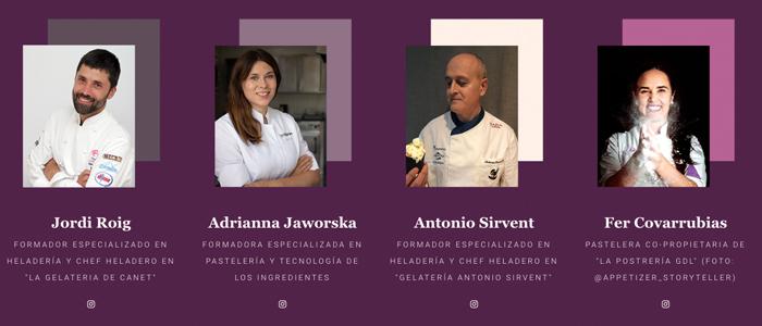 Ponentes de la segunda edición de Sweethoetalks: Jordi Roig, Adrianna Jaworska, Antonio Sirvent y Fer Covarrubias