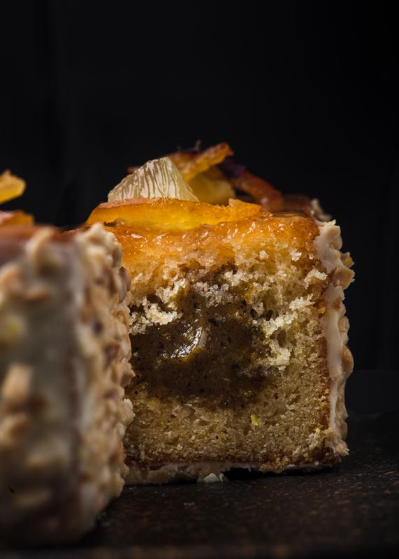 Corte del cake de limón de Carles Codina