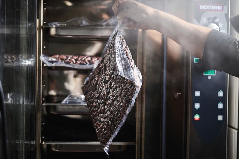 Nibs de cacao envasados al vacío