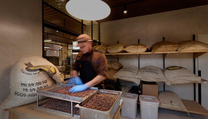 Despensa del obrador de Casa Cacao