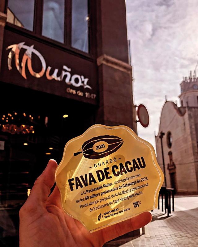 Fava de Cacau otorgada a la pastelería Muñoz