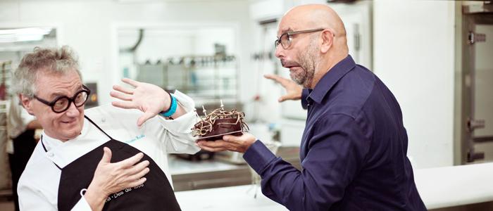 Christian Escribà y Pep Torres creadores de la tarta Miscake