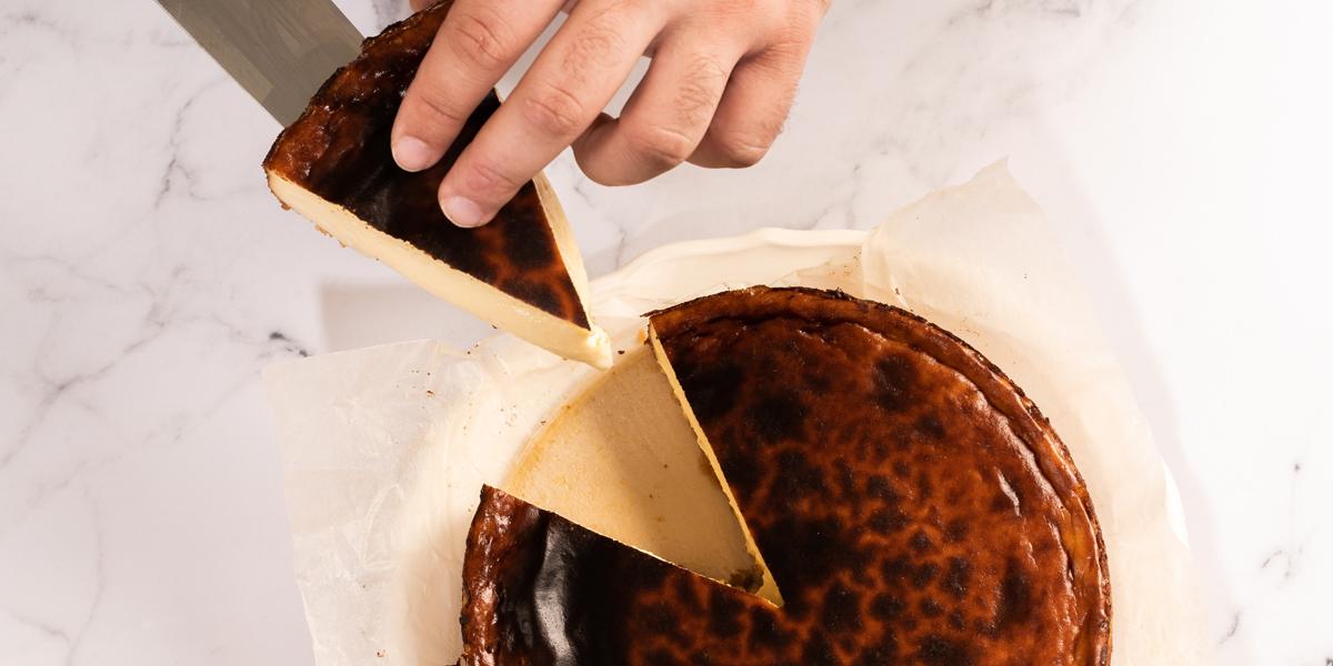 Porción de cheesecake de Jon Cake
