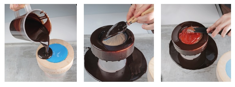 Primera parte del paso a paso del montaje de la tarta de Laia Almirall