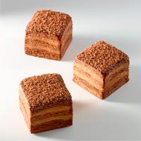 Cubo de chocolate negro, cardamomo y praliné de pecán de David Rincón