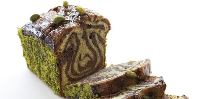 Marmoleado de Chocolate y Pistacho
