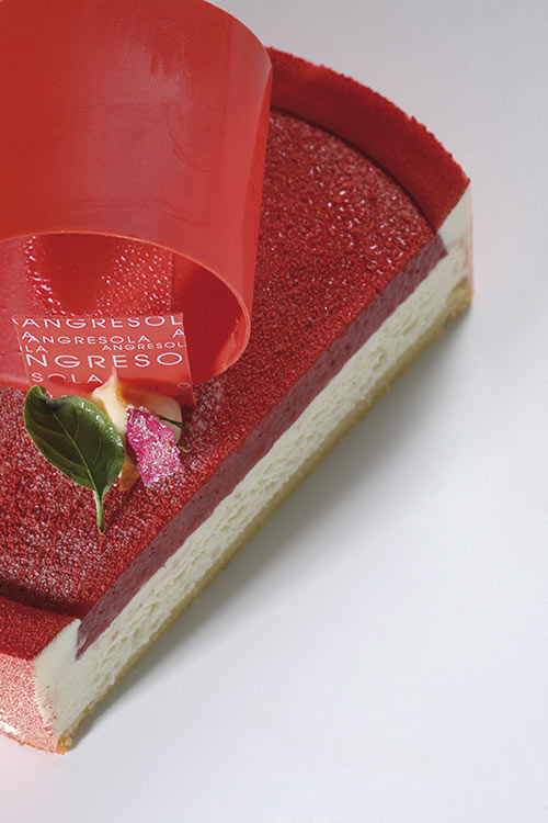 Detalle de la tarta Opalys