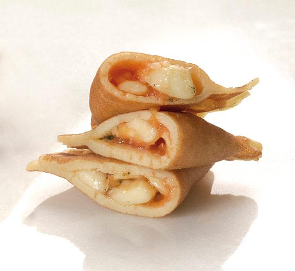 Empanadillas abiertas con masa de crêpe