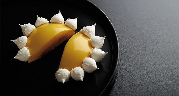 tarta exótica abierta de Gustavo Sáez