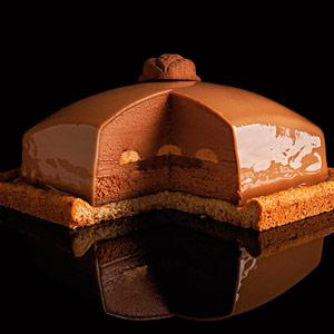 bretona de nuez al caramelo y chocolate