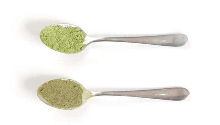cucharas té verde