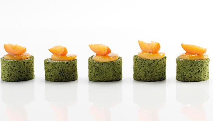 Pionono de té verde de Yann Duytsche