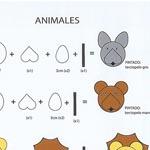 Algunos de los animales y el sistema de montaje planteados por Alberto Barrero