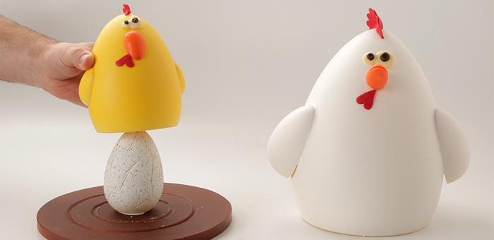 La mona de gallina, pollito y huevo