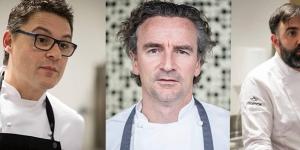 Imagen de Oriol Balaguer, Yann Duytsche y Paco Llopis en el Máster de Pastelería del BCC