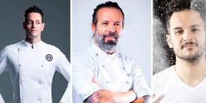 Imagen de Gregory Doyen, Daniel Álvarez y Jordi Morera en los cursos online de Bee Chef Pastry School