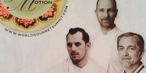 Imagen de Lippo, Haasnoot y Arnaud, chefs invitados de la Academy of Pastry Arts Malaysia en WGS 2015
