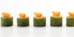 Imagen de Bocado dulce de 'Pionono' de té verde y albaricoque de Yann Duytsche
