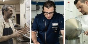 Imagen de Daniel Jordà, Albert Roca y Juan Ángel Rodrigálvarez en el festival gastronómico OríGenes