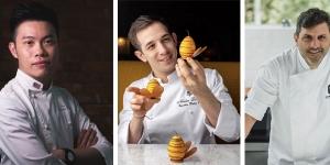 Imagen de Wei Loon Tan, Nicolas Lambert y Juan Manuel Herrera, en los cursos online de PastryBCN