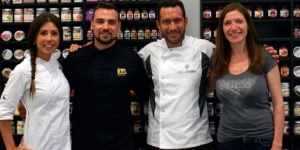 Imagen de David Pallàs y Rocío Arroyo, representantes de la marca Home Chef de Sosa Ingredients