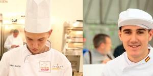 Imagen de Enric Badia y Francisco Recio en el campeonato de panadería de la IBA