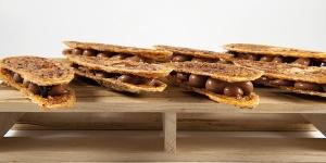 Imagen de Arlettes de hojaldre de cacao y grué de Yann Duytsche