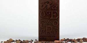Imagen de Chocolate tipográfico en el Museo de Letras de Berlín