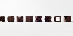 Imagen de Chocolatexture: nueve chocolates con diferentes texturas de Nendo