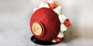 Imagen de Placer culpable de choux, frambuesa, fresa y mascarpone de Amaury Guichon