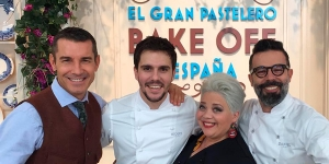 Imagen de Miquel Guarro, Betina Montagne y Dani Álvarez, jurado de Bake Off