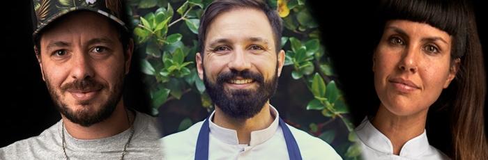 Tres exponentes de la nueva pastelería argentina: Luciano García, Matías Risé y Belén Melamed
